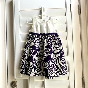 💜Beautiful Deep Purple and Cream Toddler Dress💜
